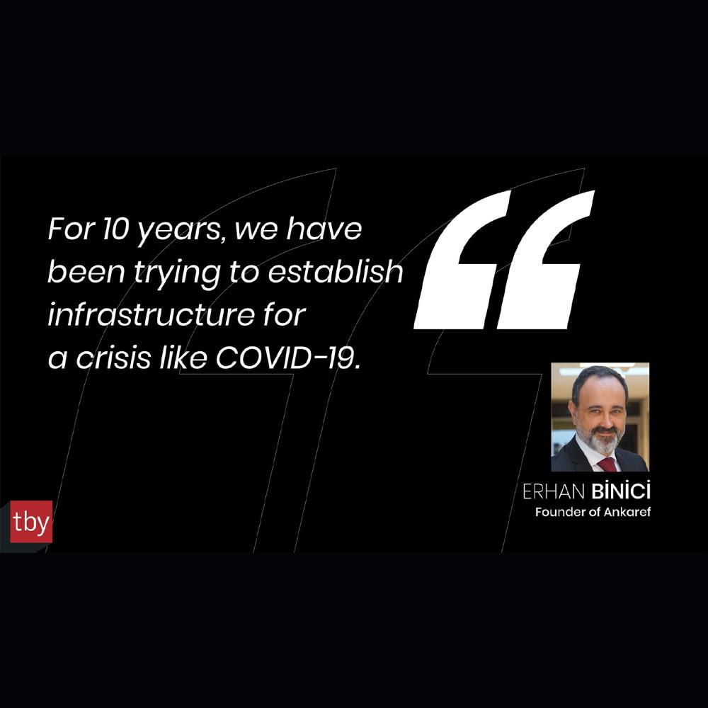 Covid-19 gibi bir krizle mücadele için, 10 yıldır bir altyapı oluşturmaya çalışıyoruz.